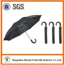 Günstigen Preisen!! Fabrik Angebot günstige 2 Falte Regenschirm mit krummen behandeln