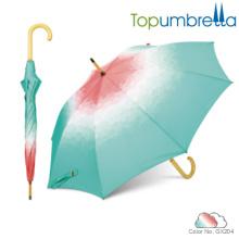 2018 paraguas baratos de las nuevas paraguas del diseñador de las innovaciones de madera