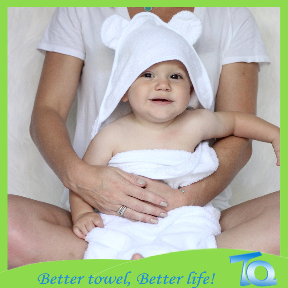 Comfortable Baby Hooded Bath Towel Organic Cotton