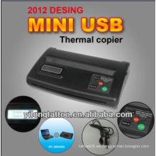 Mini copiadora de la plantilla del tatuaje del USB, copiadora termal del tatuaje, máquina de la copiadora de la pantalla