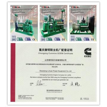 China fabricante do gerador CUMMINS 20 quilowatts - Genset da biomassa de 600 quilowatts