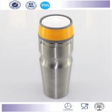 Nouveau Double paroi Auto Mug tasses de voyage avec bouton couvercle en acier inoxydable gobelet café Mug