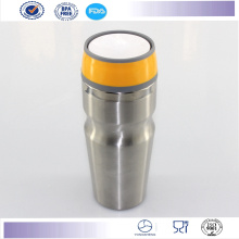 New Double Wall Auto Mug Travel Mugs with Button Lid Stainless Steel Coffee Tumbler Mug