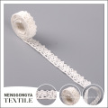 Wholesale vente chaude de haute qualité personnalisé blanc coton cordon de dentelle