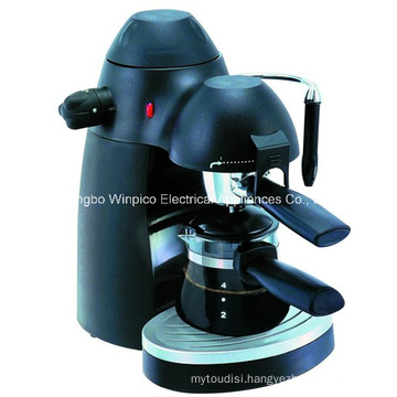 Electric 4-Cup Steam Espresso and Cappuccino Coffee Maker
