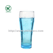 Blue Double Wall Glass Bottle (6.5*5*18 280ml)