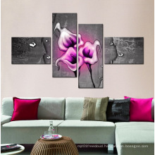 Modern Canvas 4 Panel Flower Paintings