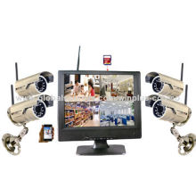 10-inch H.264 Digital Wireless Security System, Network Function, Supports 32GB SD Card