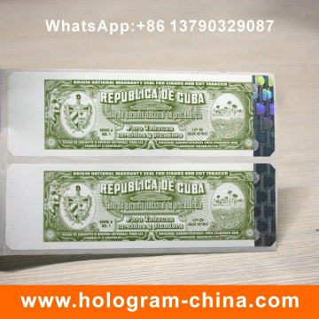 Cigarette Hologram Hot Stamping Label