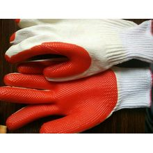 T / C Liner Laminados Latex Palm Coated Proteção Safety Work Glove (S8001)