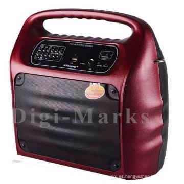 Venta caliente Karaoke portátil con Bluetooth y altavoz FM