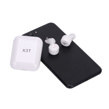 Blue Bluetooth Earphone touch operation