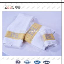 Супер качество пользовательских пряжи окрашенных Logo полотенца пять звезд Hotel полотенце хлопок