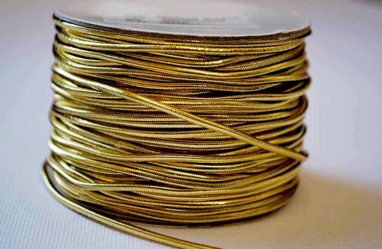 Wholesale Gold Elastic Cord