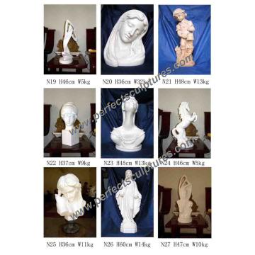 Stein Skulptur Marmor Statue Figur mit Engel Tier Figur