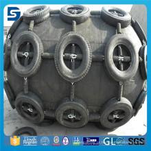 Pára-choque de borracha super da pilha com corrente e o pneu galvanizados