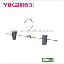 Wholesale rust-proof chrome plated trousers/skirt hanger with metal clips in qntique finishing