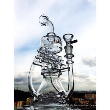 Neues Design 12 Zoll Höhe Mini Portable Recycler Glas Wasser Rohr