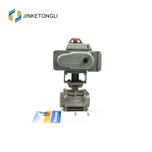JKTLEB002 electric actuated cast steel stainless steel ball valve