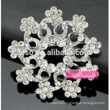 gift boxed silver crystal flower brooch