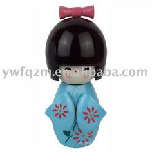 FQ marca fábrica personalizada diseño creativo buena calidad muñeca japonesa de la manera