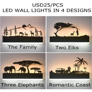 Acrylic LED Sconces Hotel Bedroom Wall Lamp Lights