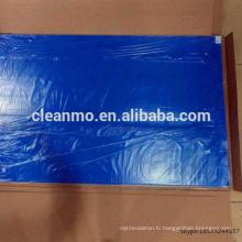 Tapis en caoutchouc bleu de salle blanche de 24X36inch tapis collant de 30 couches / tapis adhésif fournisseur