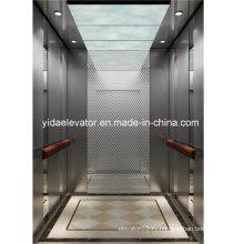 Пассажирский лифт с матовой нержавеющей сталью
