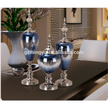 New Modern European Style Wholesales Shinning blue glass home decoration