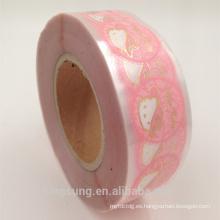 etiqueta engomada de plástico de hoja de oro para tarro cosmético