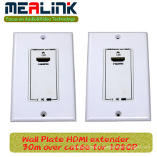 30m Wall Plate HDMI Extender Over Cat6e for 1080P (YLC40E)