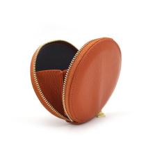 Monedero de cuero con cremallera de lujo personalizado de alta calidad