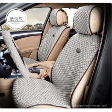 Car Seat Cover Flat Shape Ice Silk-Grey
