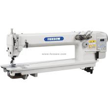 Máquina de costura de ponto de corrente de acionamento direto de braço longo