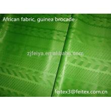 Африканская Гвинея brocade жаккардовые базен riche дамасской новое прибытие продвижение акции одежда текстиль оптом в розницу лимонного цвета