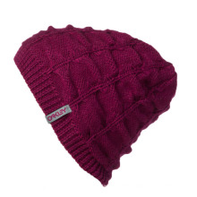 Wholesale Winter Beanie Cap with Woven Tags