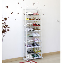 White Shoe Rack with Metal Plastic Material