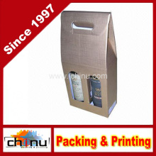 Жесткие картонные коробочки для вина (2335)