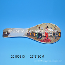 Wholesale ceramic spoon with dancing woman