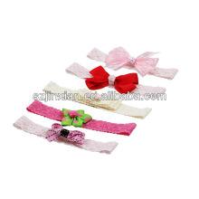 cinta de poliéster rosa pequeña flor