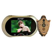 Hot sell 3.7-inch motion detector, digital door peephole viewer, photo and video recordable