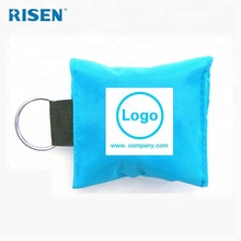 CPR face mask shield keychain cpr one way valve mask