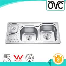 Vente chaude en acier inoxydable cuisine évier avec poubelle Vente chaude en acier inoxydable cuisine évier avec poubelle