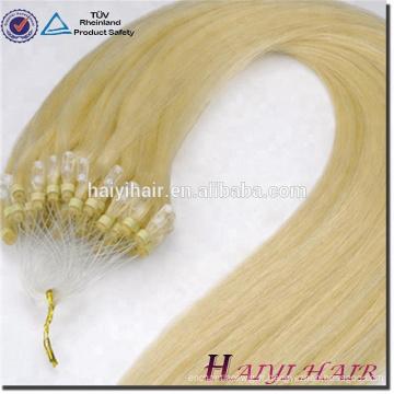 Alibaba Express cheveux humains brésiliens Double Drawn 11A Grade 1g / brin Micro boucle boucle Extension de cheveux