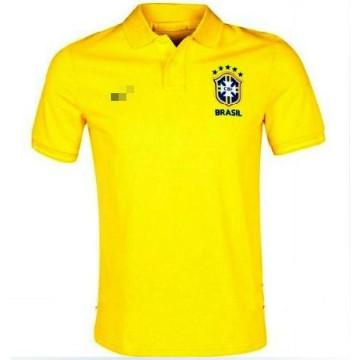 2013-14 novo estilo Brasil polo camisa Copa do mundo camiseta