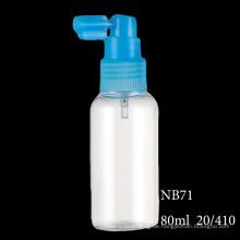Kosmetische Pumpsprühflasche flüssige Plastiknachfüllbare Flasche verschiedene Größe (NB71)