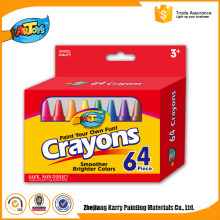 All-season performance 64 Colours Kids Art wax bulk color crayon