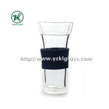 Двухстенная стеклянная бутылка от BV, SGS, (Dia9cm, H: 18 см, 410 мл (KL120908-6A)