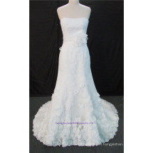 Sweetheart Lace Mermaid Bridal Dress Sweep Train Wedding Gown