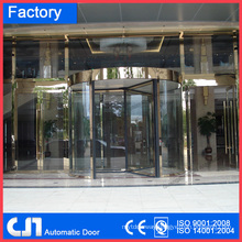 Hotel 3 Wings Golden Automatic Revolving Door Facoty
